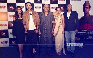 Rajkummar Rao, Hansal Mehta, Ekta Kapoor & Patralekhaa Promote Bose:Dead/Alive In Delhi