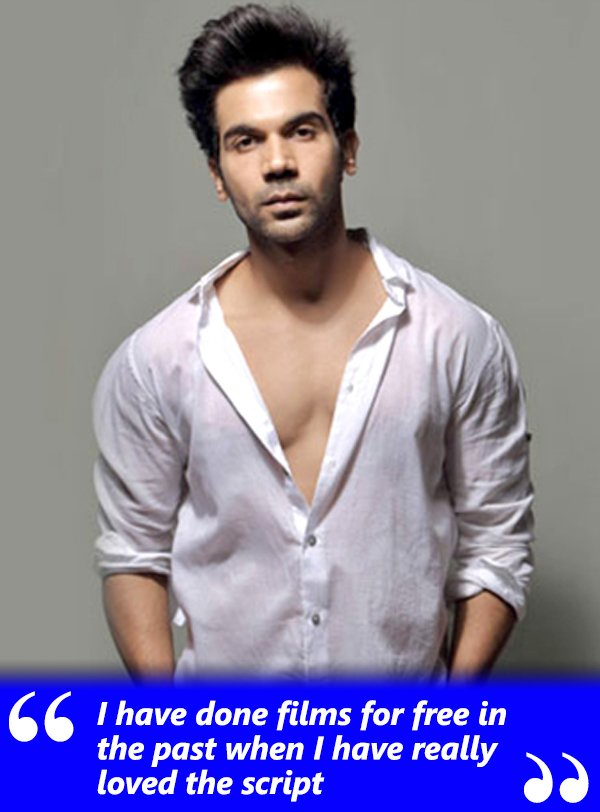 rajkummar rao has done films for free in the past