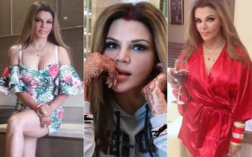 Rakhi Sawant Flaunts Her Chooda And Her Husband's Name After Calling Her Marriage A 'Bridal Photo Shoot'