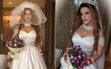 Rakhi Sawant Shares FIRST PICTURES Of Her As  A Christian Bride: View Pictures