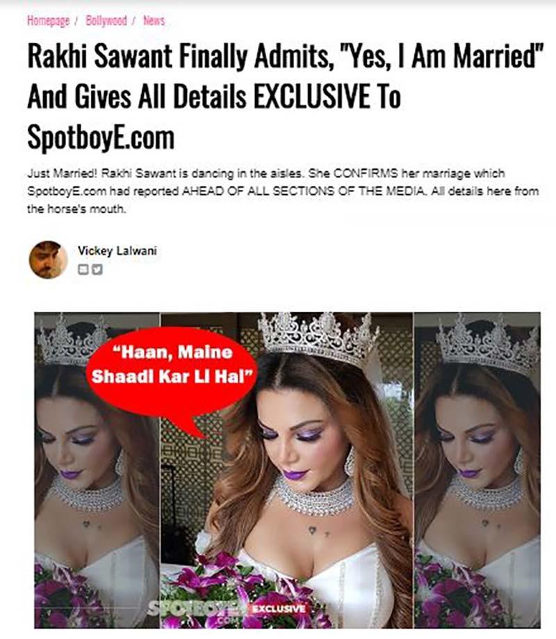 rakhi interview