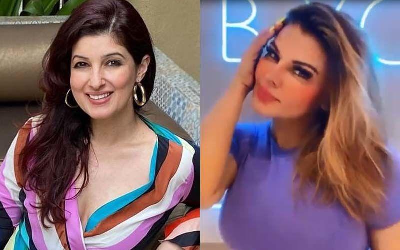 Twinkle Khanna Praises Rakhi Sawant; Rakhi Thanks Twinkle By Dancing On Her Song 'Kamariya Lachke Re' From Mela