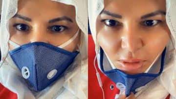 Coronavirus Outbreak: Rakhi Sawant Shows Her Empty Plane; Says, 'Mask Ki Wajahse Bol Nahi Pa Rahi Hu' - VIDEO