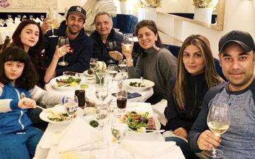 आलिया भट्ट ने रणबीर कपूर और उनके परिवार के साथ किया नए साल का स्वागत , देखे तस्वीरें