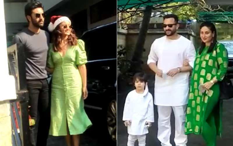 Merry Christmas 2020: Ranbir Kapoor Arrives With Girlfriend Alia Bhatt At Kapoor Residence For Annual Xmas Lunch; Kareena Kapoor Khan, Saif Ali Khan And Taimur Pose Happily – VIDEO