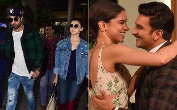नए साल का जश्न मनाने के बाद मुंबई लौटे रणबीर कपूर और आलिया भट्ट, रणवीर-दीपिका लौट रहे हैं घर