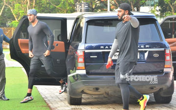 Ranbir And Arjun Kapoor Bring Their A-Game On To The Football Field; View Pics