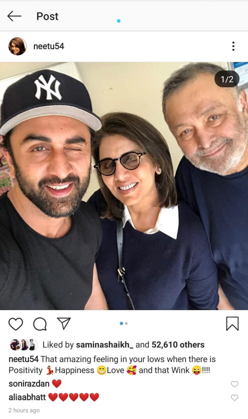 Neetu Kapoor Instagram Post