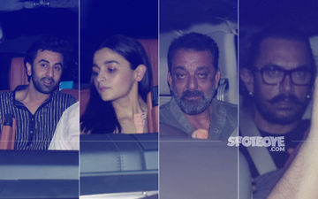 Sanju Screening: Ranbir Kapoor-Alia Bhatt Arrive Together; Sanjay Dutt & Aamir Khan Also Attend