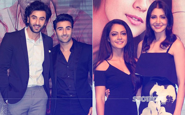 ranbir kapoor and anushka sharma launch yrf new talents aadar jain and anya singh