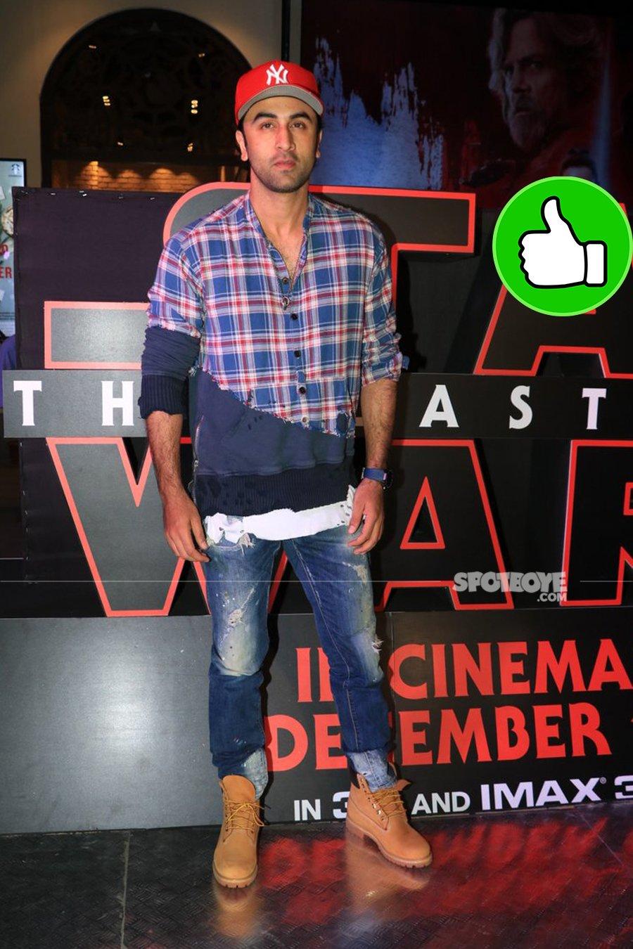 ranbir kapoor at star wars screening
