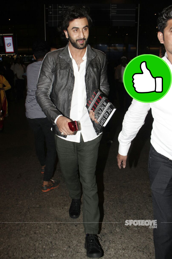 ranbir kapoor at the airport