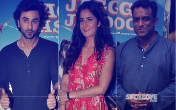 Ranbir Kapoor, Katrina Kaif & Anurag Basu Spotted At Jagga Jasoos Trailer Launch