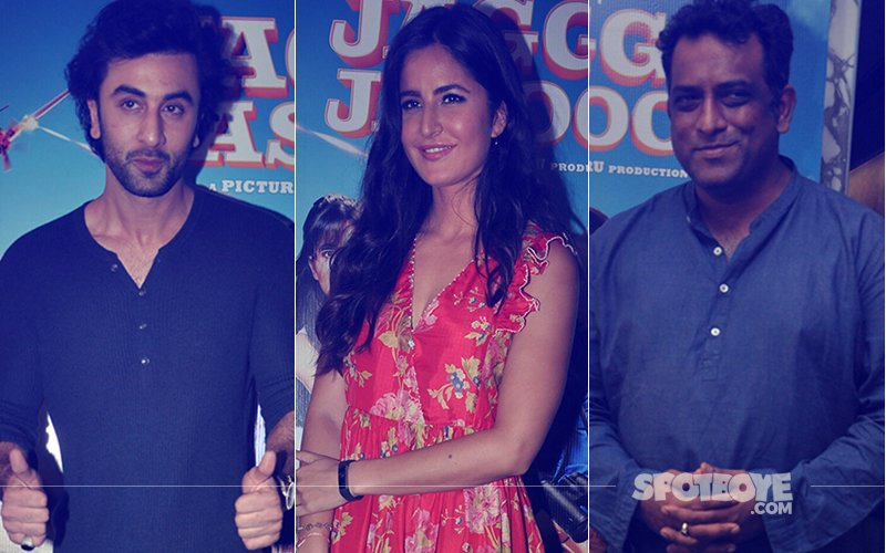 Ranbir Kapoor, Katrina Kaif & Anurag Basu Spotted At Jagga Jasoos Trailer Launch