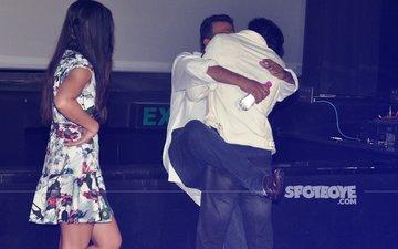 AWKWARD: Ranbir Kapoor Smooches Anurag Basu, Shocked Katrina Kaif Looks On