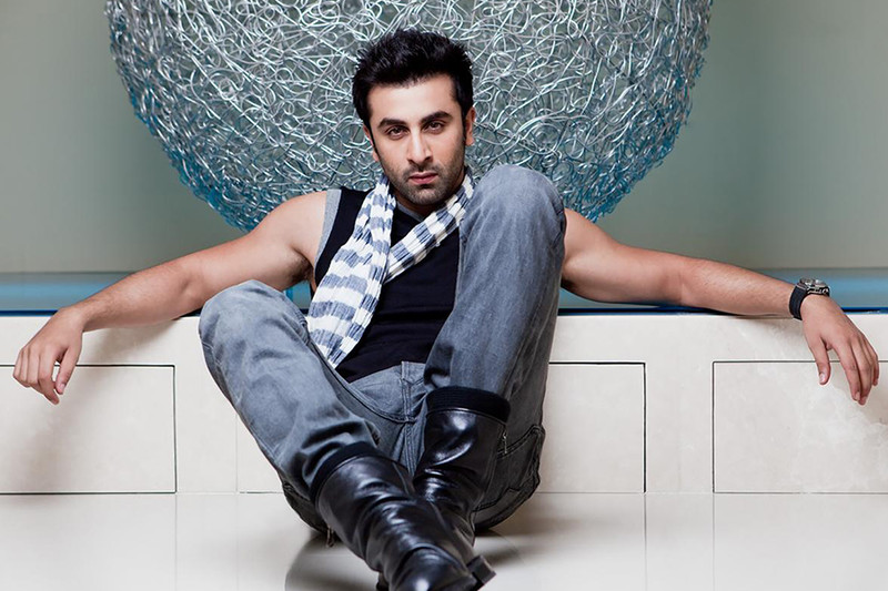 ranbir kapoor poses for a photo shoot