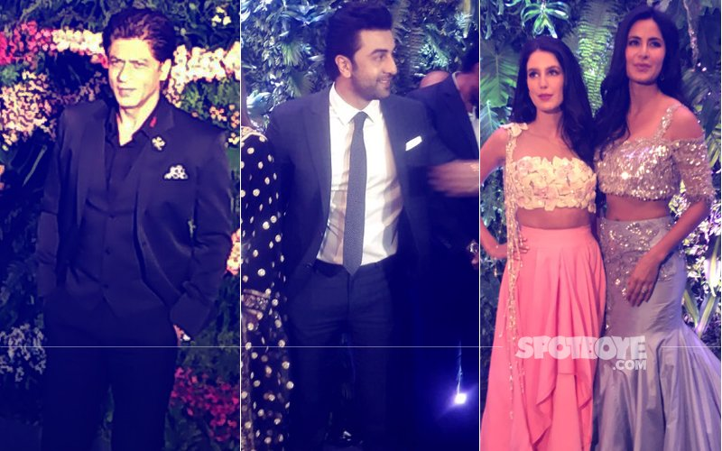 VIRAT-ANUSHKA MUMBAI RECEPTION: Shah Rukh Khan, Katrina Kaif, Ranbir Kapoor Enter. Watch Videos