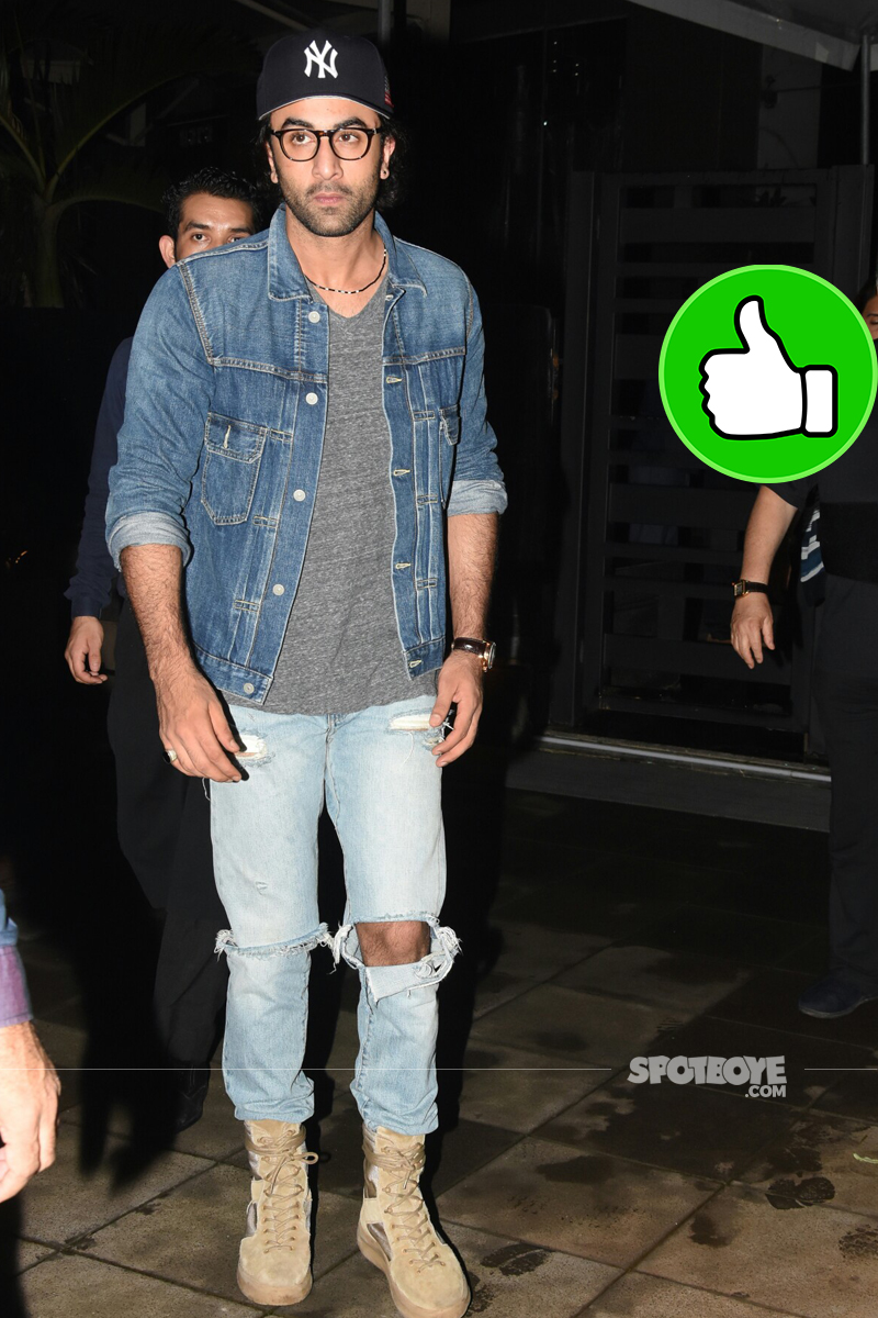 ranbir kapoor snapped post dinner