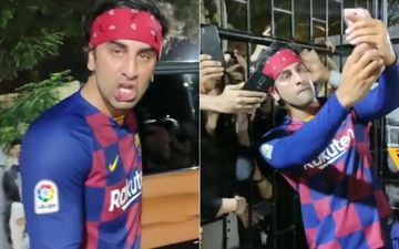 Ranbir Kapoor Injures His Lip While Playing Football; Agrees To Click Pouty Selfies With Fans Nonetheless