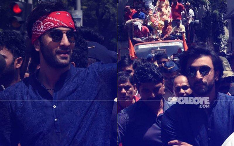 SEE PICS: Ranbir Kapoor Walks With Bappa At RK Studios' Ganesh Visarjan