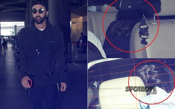 Ranbir Kapoor Lands In Mumbai With A MYSTERY GIRL. Why Is She HIDING Her Face?