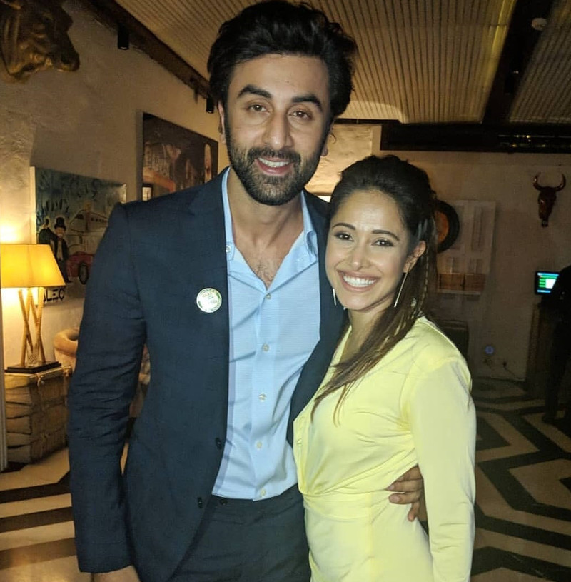 ranbir kapoor with nushrat bharucha on her birthday