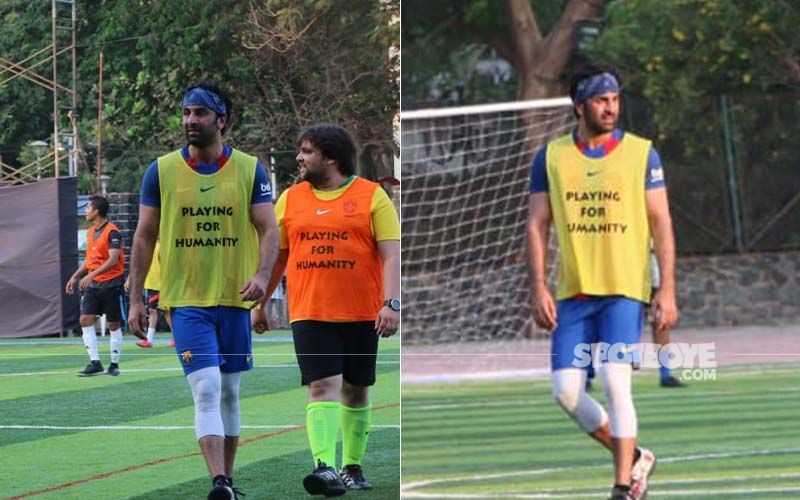 Ranbir Kapoor Kicks Ball And He Loves It!