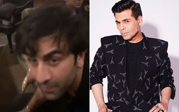 "Ranbir Kapoor Goes ""What The F#*&"" As Karan Johar Films Him At His House Party - Watch Video"