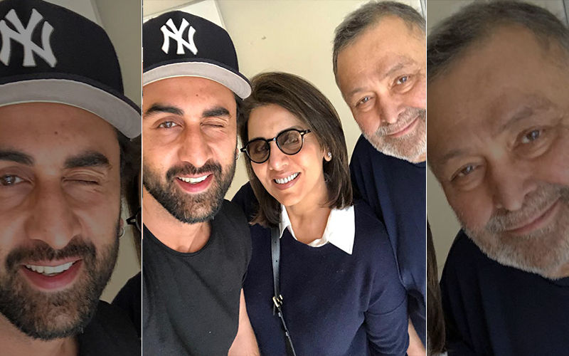 Ranbir Kapoor Joins Back Rishi-Neetu In New York; Makes Mum Happy With A Wink Selfie!