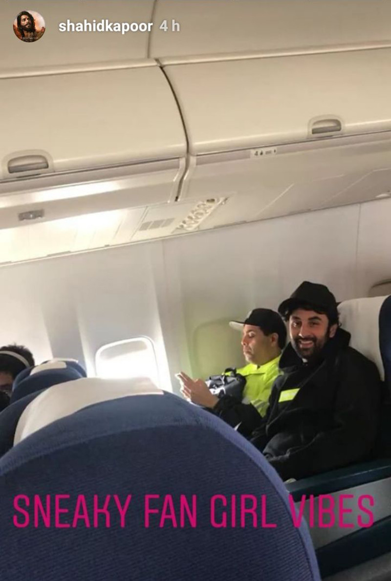 Ranbir Kapoor In Flight