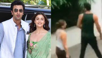 Ranbir Kapoor, Alia Bhatt Move-In Together? Couple Spotted Walking Their Pet Amid Coronavirus Lockdown –VIDEO