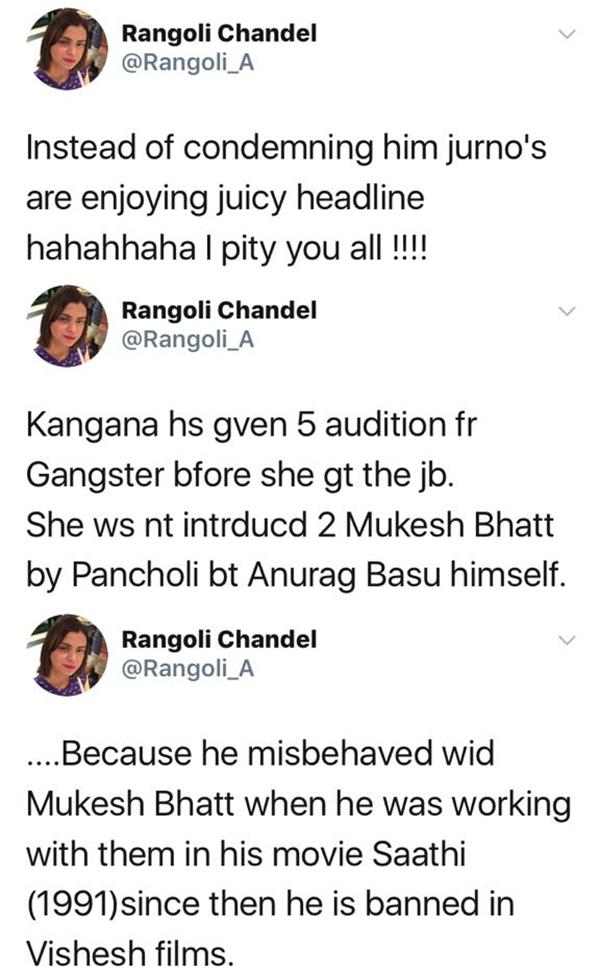 rangoli chandel defends sister kangana on twitter