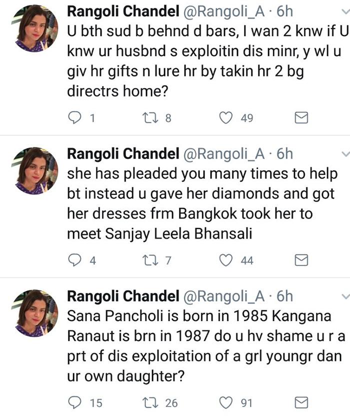 rangoli chandels twitter war