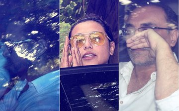 Aamir Khan, Ranveer Singh & Aditya Chopra At Rani Mukerji's Father's Funeral
