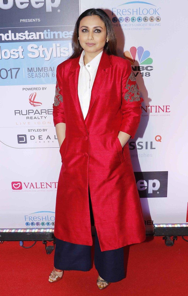 rani mukerji at the ht most stylish awards 2017