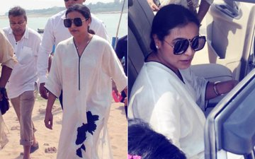 Rani Mukerji Immerses Late Father's Ashes In The Sangam