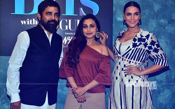 Rani Mukerji With Her BFF Sabyasachi On The Sets Of Vogue BFFs!