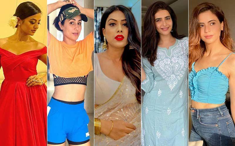 BEST DRESSED & WORST DRESSED Of The Week: Helly Shah, Hina Khan, Nia Sharma, Karishma Tanna Or Aamna Sharif?
