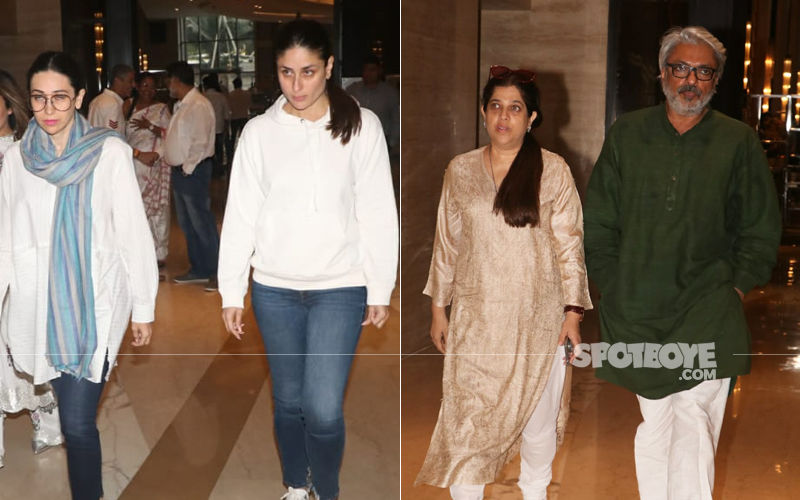 Ranjana Phadnis Prayer Meet: Kareena-Karisma Kapoor, Sanjay Leela Bhansali Pay Their Last Respects