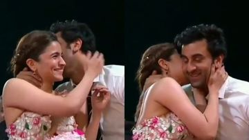 Ranbir Kapoor-Alia Bhatt Share An AWKWARD Kiss At An Award Show And The Actress Is Left Blushing – Throwback VIDEO