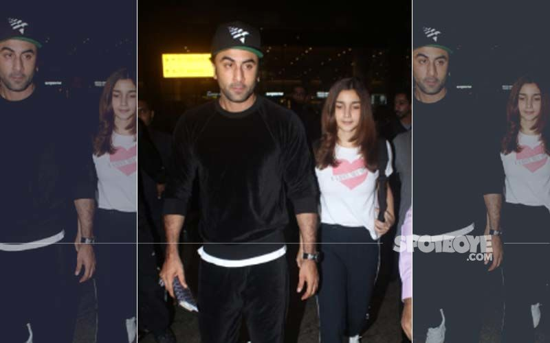 "Ranbir Kapoor-Alia Bhatt Return From New York, Actor Candidly Tells Photogs, ""Bhai, Go Get Some Sleep"""