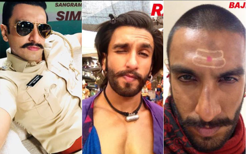 Ranveer Singh's Selfie Game Is On Point As He Flaunts His Transformations For Different Roles