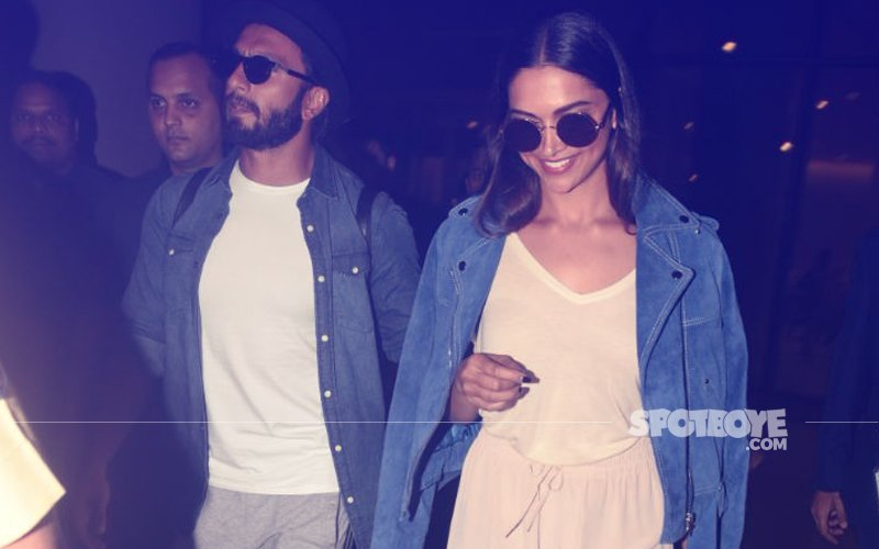 Ranveer & Deepika Return From Their RENDEZVOUS On Foreign Shores