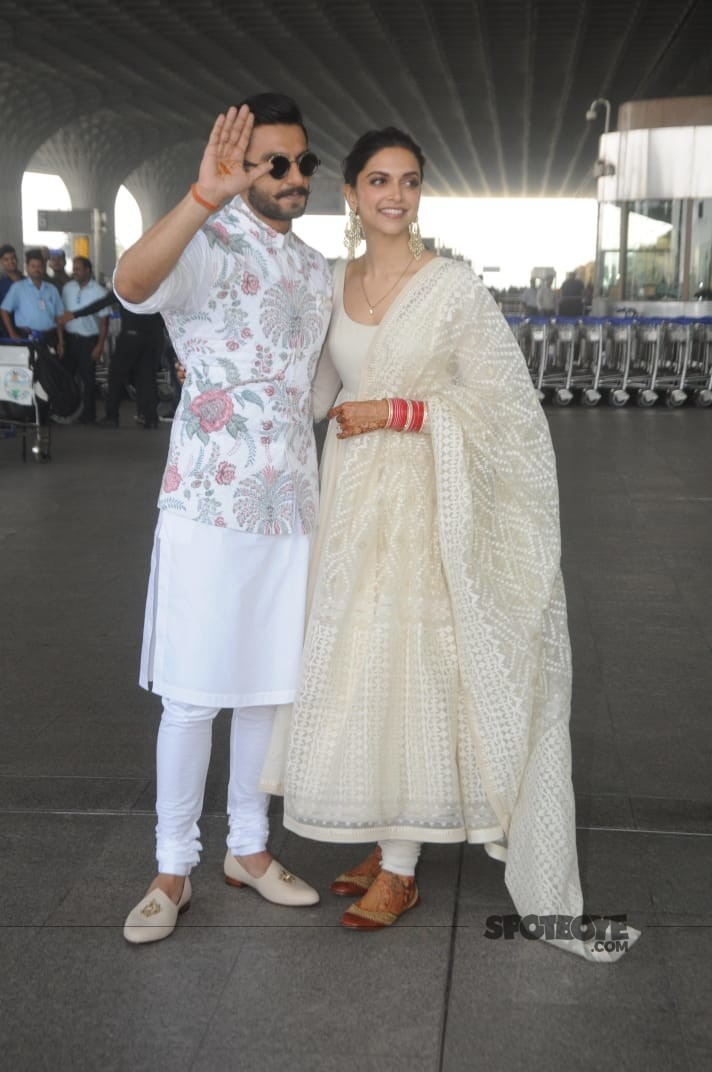 ranveer deepika fly to banglore
