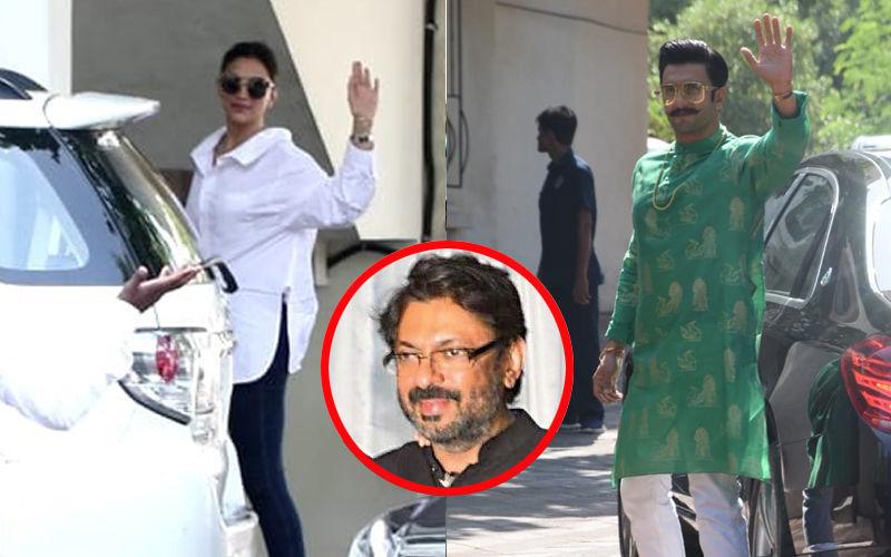"""""""शादी में जरूर आना"""" संजय लीला भंसाली को इनवाईट करने पहुंचे रणवीर सिंह और दीपिका पादुकोण"""