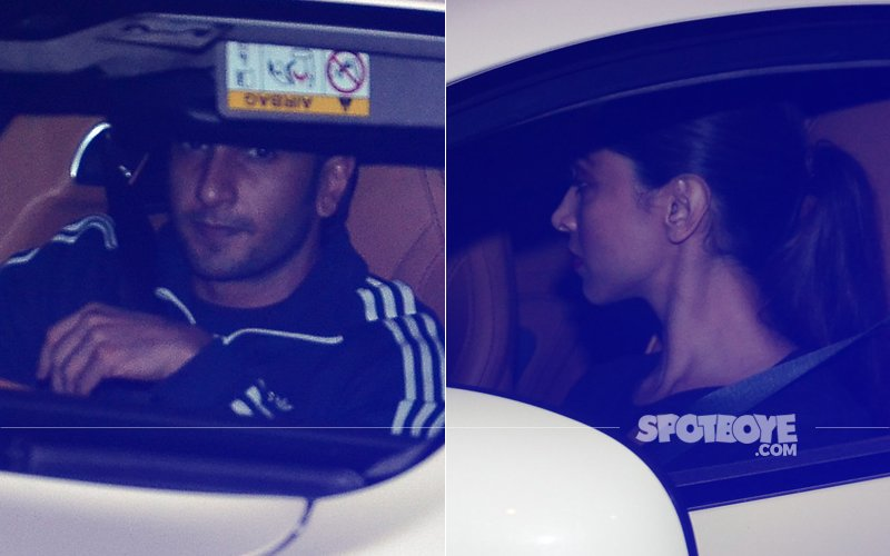 DATE NIGHT: Ranveer Singh & Deepika Padukone Take A BREAK From Padmavati Controversies!