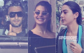Ranveer Singh, Jacqueline Fernandez And Sara Ali Khan Spotted In And Around Mumbai