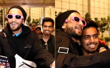 Charged Up Post Sooryavanshi Trailer Launch, Ranveer Singh Rakes Up A Storm At The Airport - WACKY VIDEO