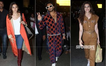 Ranveer Singh, Alia Bhatt And Kriti Sanon Ooze Glamour And Quirk At The Airport