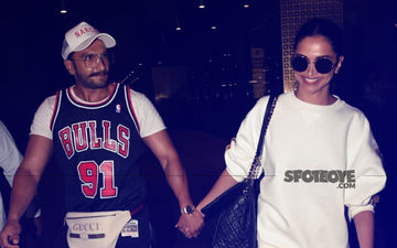 Deepika Padukone & Ranveer Singh Return Holding Hands After Their Vacation; Actor Kisses Ladylove & Bids Goodbye